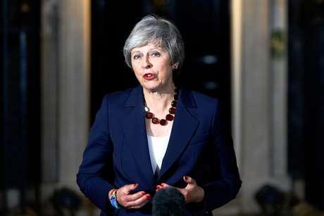 Premiê Theresa May em Londres  14/11/2018   REUTERS/Henry Nicholls