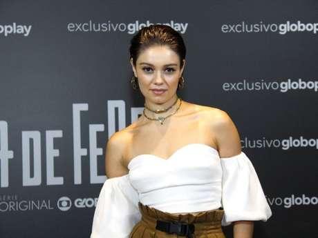 Sophie Charlotte se reúne com elenco da série 'Ilha de Ferro', da TV Globo, para uma coletiva no Teatro Riachuelo, no Centro do Rio de Janeiro, na noite desta terça-feira, 13 de novembro de 2018
