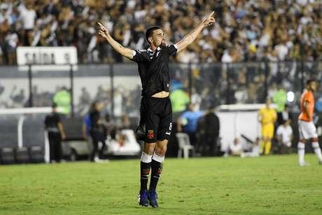 Thiago Galhardo, do Vasco, em partida contra o Atlético Paranaense