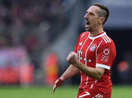 Ribery insultou e agrediu jornalista após derrota para o Borussia Dortmund (Foto: Christof Stache / AFP)