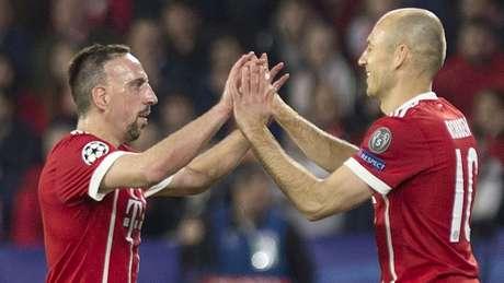 Ribéry e Robben são os mais experientes do Bayern de Munique (Foto: AFP)