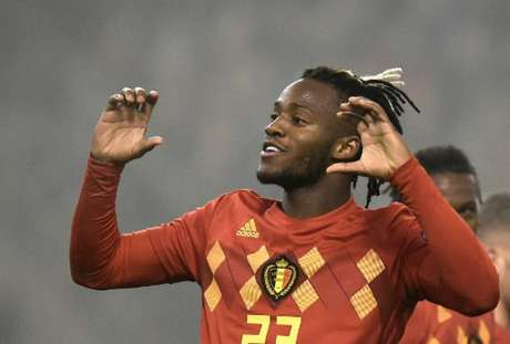 Batshuayi fez os dois gols da Bélgica (Foto: John Thys / AFP)