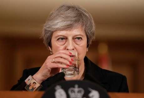 A primeira-ministra britânica, Theresa May, em entrevista concedida em Londres