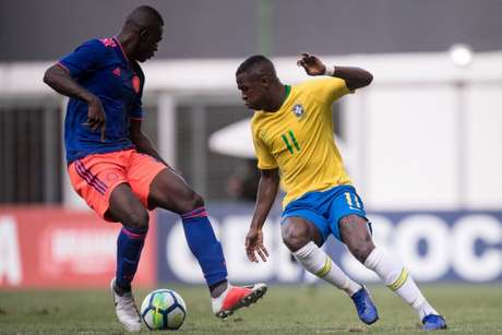 Vinicius Junior não conseguiu levar o Brasil à vitória contra a Colômbia (Foto: Reprodução/Twitter)