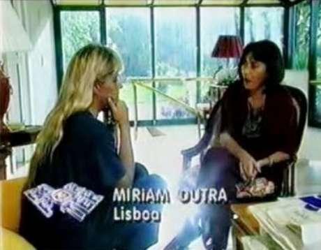 A jornalista entrevistou Adriane Galisteu em 1994, em Lisboa, após a morte de Senna: uma das últimas aparições na tela da Globo