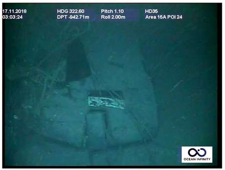Segundo a Marinha da Argentina, essa imagem mostra a vela do submarino