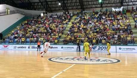Equipes empataram no jogo de ida da semifinal da LNF (Foto: Reprodução)