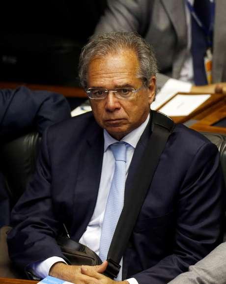 Futuro ministro Paulo Guedes,  no Congresso, em Brasília