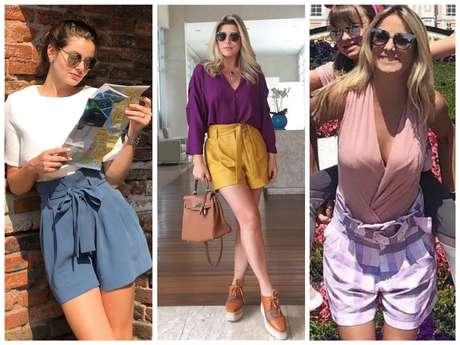 Famosas vestem shorts cenoura (Fotos: Instagram/Reprodução)