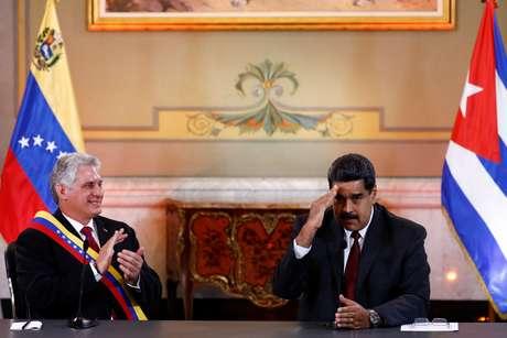 Presidentes de Cuba e da Venezuela em Caracas  30/5/2018    REUTERS/Marco Bello