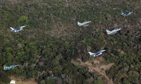 Aeronaves durante exercícios em Natal 20/11/2018   REUTERS/Paulo Whitaker