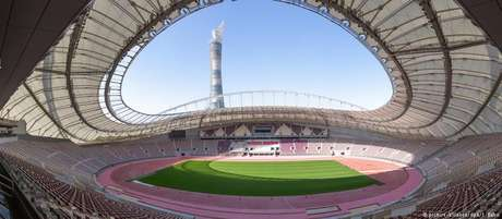 Califa International Stadium, located west of Doha, is the only stadium prepared for the World Cup in 2022