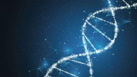 Representação artística de uma fita de DNA