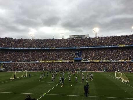 Torcida do Boca Juniors lotou a Bombonera