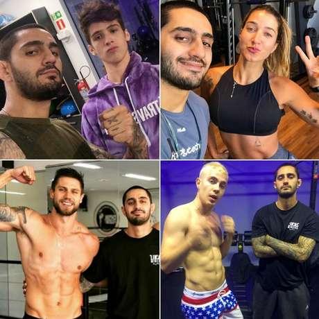 Caio também treina o ator e cantor João Guilherme e os influenciadores Gabriela Pugliesi, Jonas Sulzbach e Leo Picon