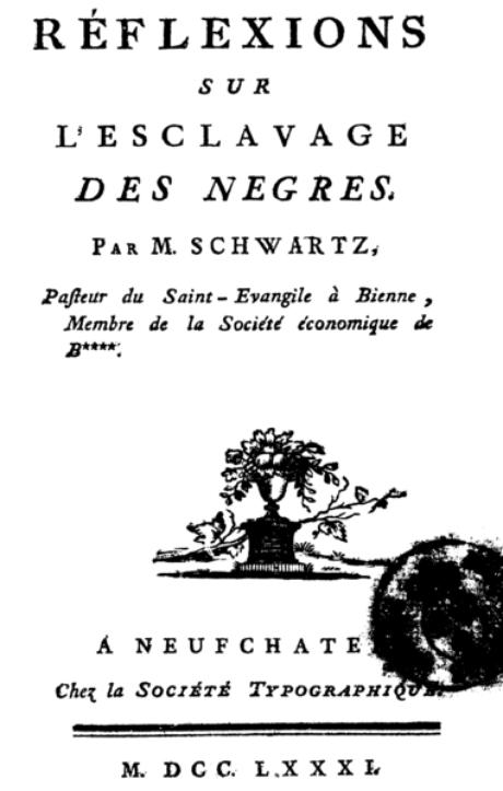 O ensaio famoso de Condorcet contra a escravidão ( capa de 1781)