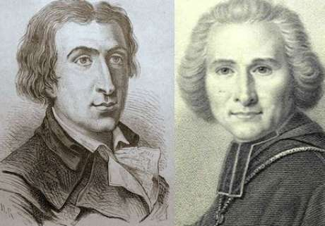 Jacques Pierre Brissot de Warville (1754-1793) e o abade Henri Gregoire (1750-1831), abolicionistas franceses