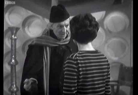 O ator William Hartnell como 'Doctor Who', no primeiro episódio da série, em 1963.