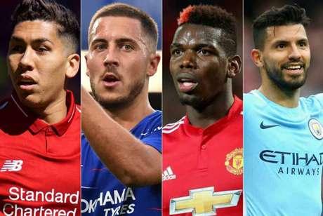 Firmino, Hazard, Pogba e Agüero são alguns dos destaques da rodada (Foto: Reprodução)