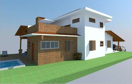 3- O revestimento de parede externa pode ser usado nas áreas de lazer. Fonte: Miliauskas Arquitetura