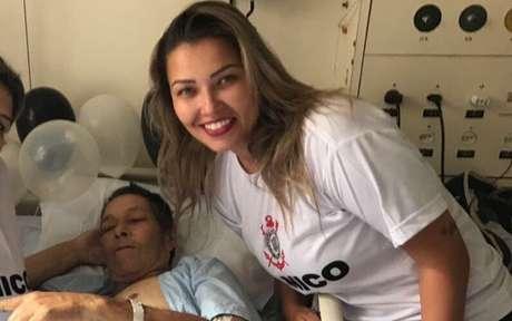 Cristina Kojo tem duas paixões: o Corinthians e o Boca Juniors (Crédito: Arquivo Pessoal)