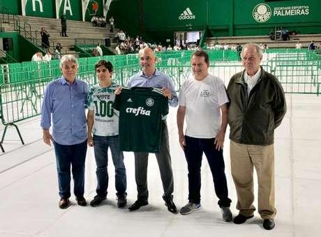 A chapa eleita: José Caliari, Alexandre Zanotta, Maurício Galiotte, Paulo Buosi e Décio Perin (Foto: Thiago Ferri)