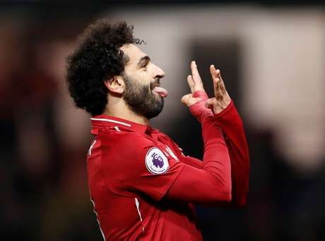 Salah comemora gol do Liverpool
