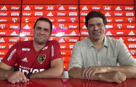 André Jardine e Raí comentaram sobre as expectativas para a próxima temporada do São Paulo(Ângelo Martins/saopaulofc.net)