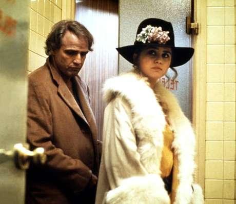 """Marlon Brando e Maria Schneider em cena de """"O Último Tango em Paris"""""""