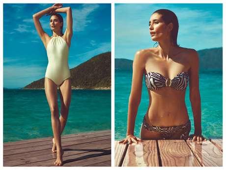 Criações da estilista Lenny Niemeyer para a coleção 5 Maresda C&A