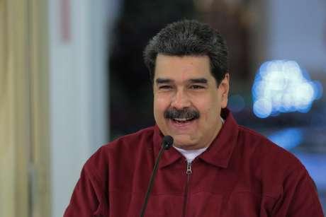 Presidente da Venezuela, Nicolás Maduro, durante reunião com ministros no Palácio de Miraflores, em Caracas 24/11/2018 Palácio de Miraflores/Divulgação