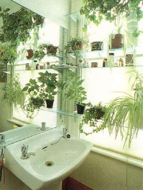 9- As plantas para banheiro podem ser colocadas próximas à janela. Fonte: Pinterest