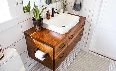 8- Plantas para banheiro enfeitam e levam classe ao ambiente. Fonte: Blog Dimare Planejados