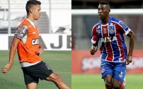 Os laterais Igor Vinicius e Léo (Fotos: Ponte Press/Luiz Guilherme Martins e Felipe Oliveira/Bahia)