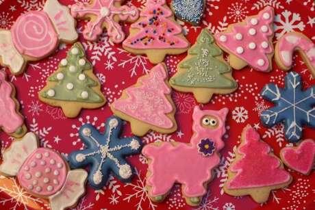 Lindos biscoitos decorados para o Natal