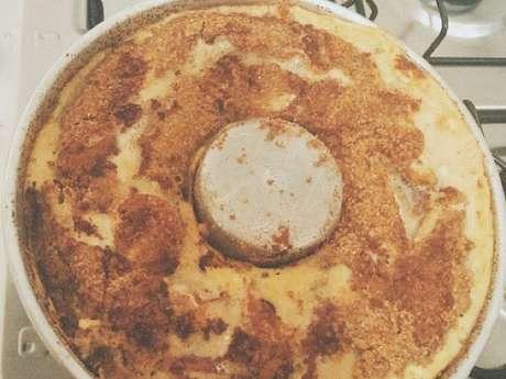 Torta light de banana com maçã e aveia