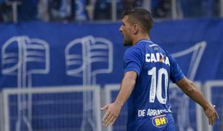 Com 15 gols, o uruguaio foi um dos grandes destaques da Raposa em 2018- (Foto: Washington Alves/Light Press/Cruzeiro)