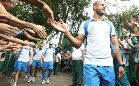 Mayke chegou ao Palmeiras no ano passado, emprestado pelo Cruzeiro (Cesar Greco/Ag Palmeiras/Divulgação)