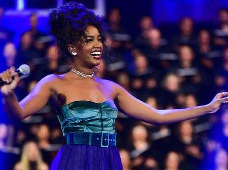 Iza cantou no show Feliz Natal Brasil Believe (Foto: Leo Franco/AgNews)