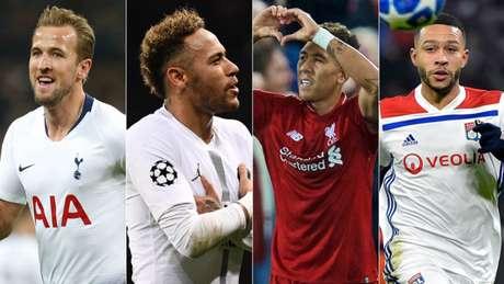 Quem levará sua equipe para as oitavas da Liga dos Campeões? (Fotos: AFP)