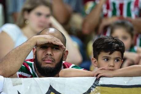 Torcedor Fluminense na partida contra o Atlético Paranaense,