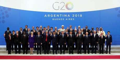 Foto oficial do G20.