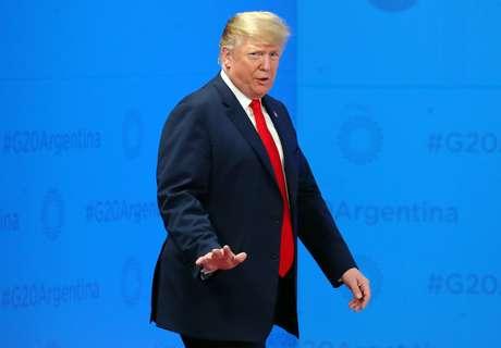 O presidente dos Estados Unidos, Donald Trump, em Buenos Aires