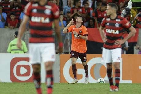 Matheus Rossetto comemora gol durante Flamengo x Atletico-PR