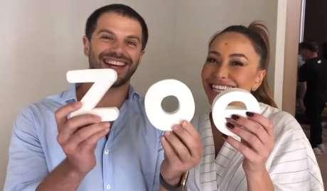 Duda Nagle e Sabrina Sato em vídeo sobre o nascimento de Zoe.