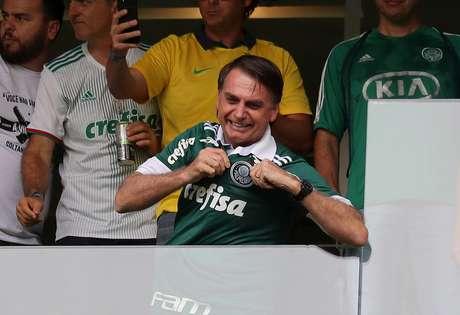 Bolsonaro em jogo do Palmeiras  2/12/2018   REUTERS/Paulo Whitaker
