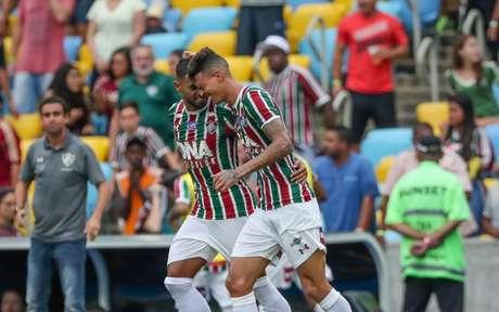 Ao lado de Kayke, Richard comemora gol pelo Flu (Foto: Andre Melo Andrade/Eleven)