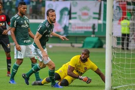 Edu Dracena do Palmeiras comemora gol
