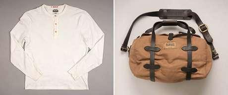 Manga comprida e bolsa para viagem