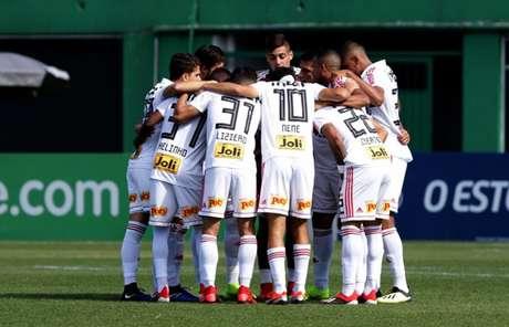 Jogadores do São Paulo antes da partida contra a Chape - FOTO: Rubens Chiri/saopaulofc.net